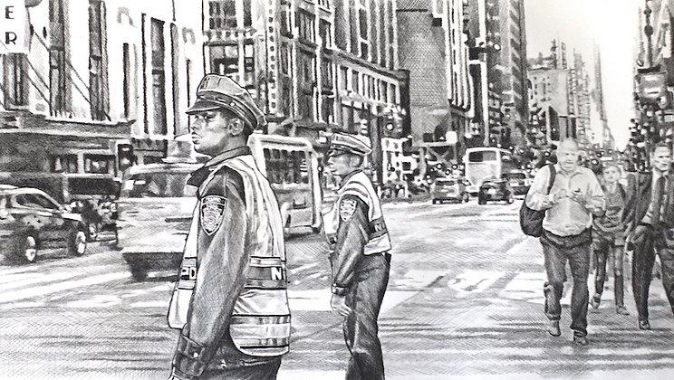 Félix Wysocki - MANHATTAN - Gravure + crayon, 51 x 66 cm, édition de 5