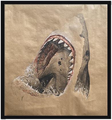 Olivier Legan - Gueule de requin - 100x100cm