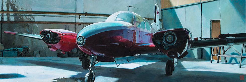 Claude Delamarre - Beechcraft - 50x148cm