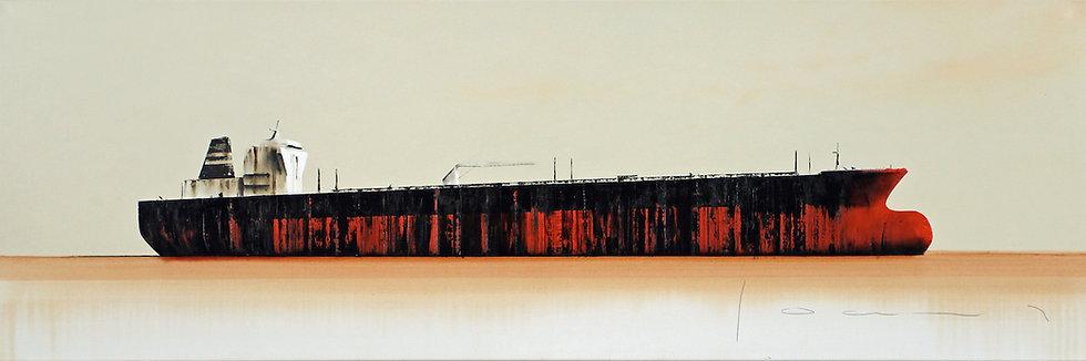 Stéphane Joannes - Tanker rouge  - 50x150cm