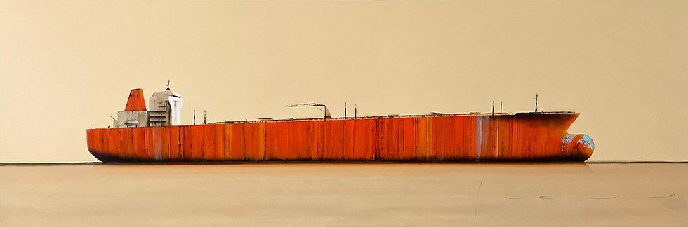 Stéphane Joannes - Tanker orange - 60x180cm