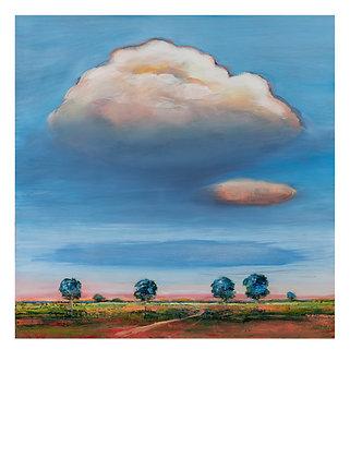 Marie-Amélie Germain - Paysage 1 - 120x88,5 cm, encadré