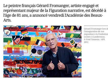 Décès du peintre Gérard Fromanger