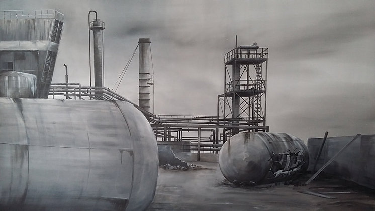 Hadrien de Corneillan - Glorious fifties -  81x116cm - Acrylique/toile