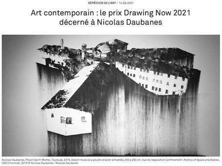 Art contemporain : le prix Drawing Now 2021 décerné à Nicolas Daubanes