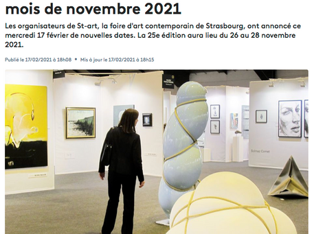 Report de la foire St-art en novembre 2021