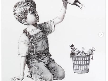 A venir, vente aux enchères d'une oeuvre de Banksy au profit des services de santé britanniques.