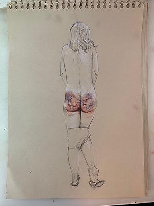 Olivier Legan - Tongs - 53x35cm