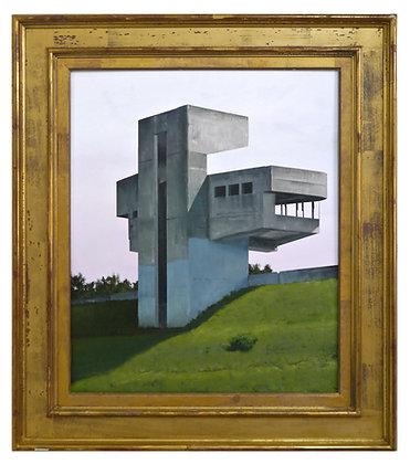 Patrick Cornillet - Concrete pietà -  86x75cm - Huile sur bois