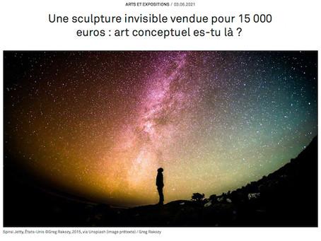 Une sculpture invisible vendue pour 15 000 euros
