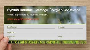 Sylvain Rouchié - Certificat Cadeau