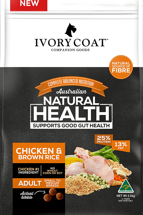 Ivory Coat Natural Health Adult Chicken & Brown Rice