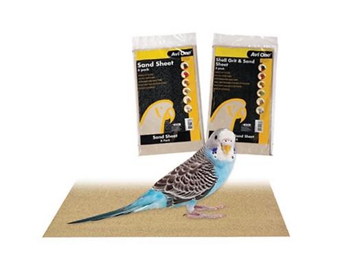 Avi One Sand Sheet Bird 6pk