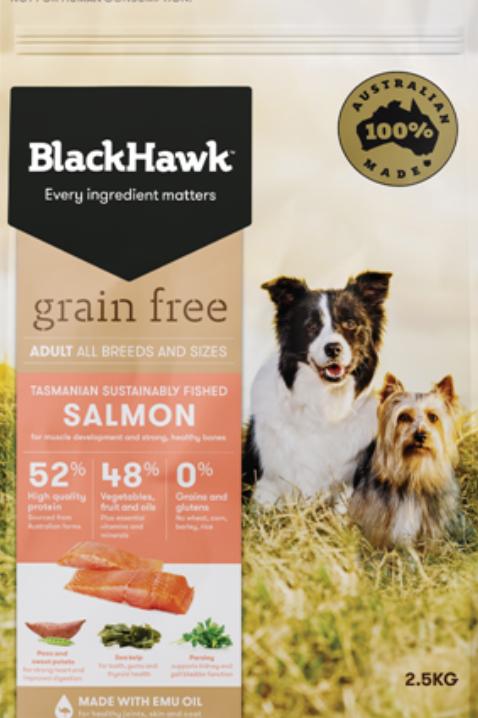 BlackHawk Grain Free Adult Salmon 2.5kg
