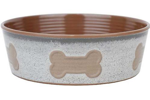 Barkley & Bella Melamine Dog Bowl Natural Bone