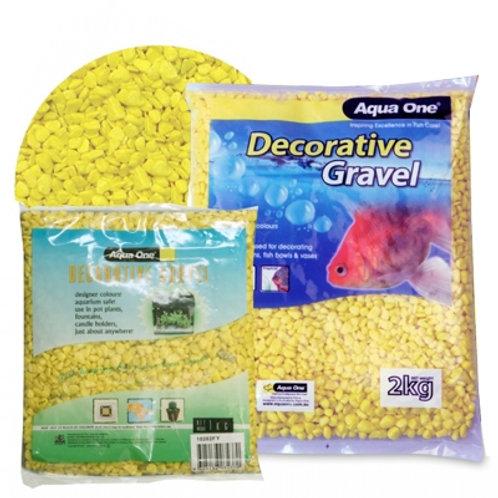 Aqua One Gravel Fluro Yellow