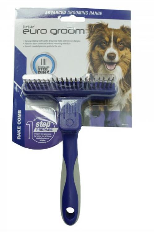 Euro Groom Dog Rake Comb 20 Short Teeth