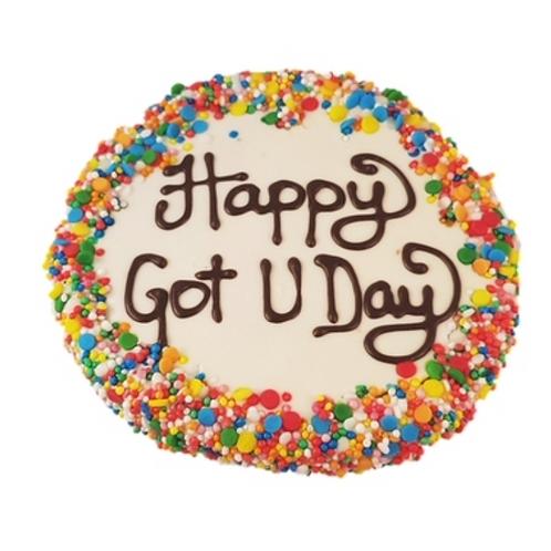 Happy Got U Day Cakes - Yoghurt Dog Treat- 1pce