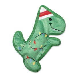 Fringe Studio Christmas Rex Durable Plush Dog Toy