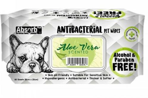Absolute Holistic Antibacterial Pet Wipes Aloe Vera Scented