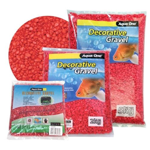 Aqua One Gravel Scarlet Red