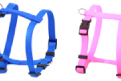 Beau Pets Nylon Plain 2 Ring Harness