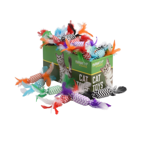 Candy Crackle with Feathers Cat Toys