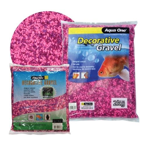Aqua One Gravel Pink And Purple