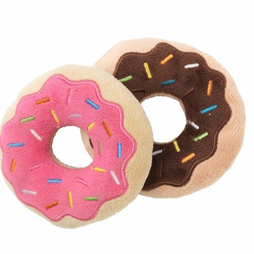 Fuzzyard Plush Dog Toy Donuts