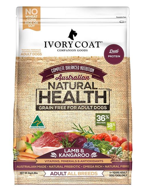 Ivory Coat Natural Health Grain Free Adult Lamb & Kangaroo
