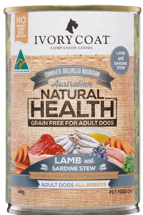 Ivory Coat Natural Health Adult Lamb & Sardine Stew