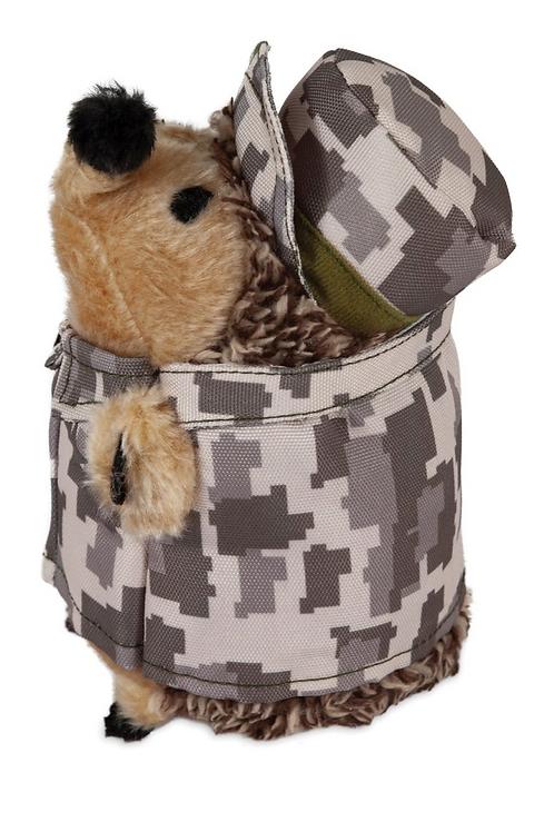 Heggies Plush Dog Toy Mac The Soldier