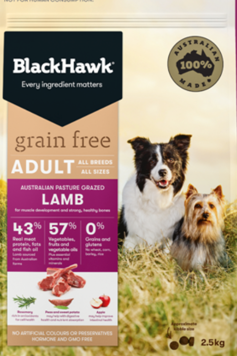 BlackHawk Grain Free Adult Lamb 2.5kg