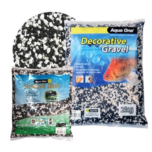 Aqua One Gravel Black And White