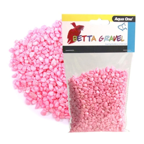 Aqua One Metallic Pink Betta Gravel