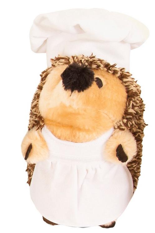 Heggies Plush Dog Toy Gruntly the Chef