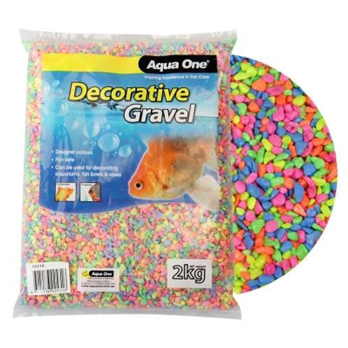 Aqua One Gravel Neon Rainbow