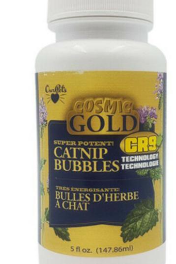 Cosmic Gold Catnip Bubbles