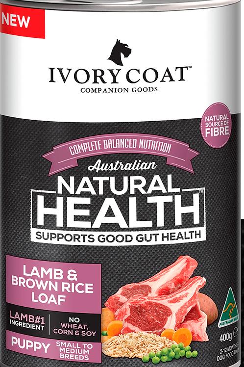 Ivory Coat Natural Health Puppy Lamb & Brown Rice Loaf