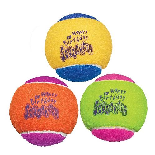 kong Squeakair Happy Birthday Balls x3 Set