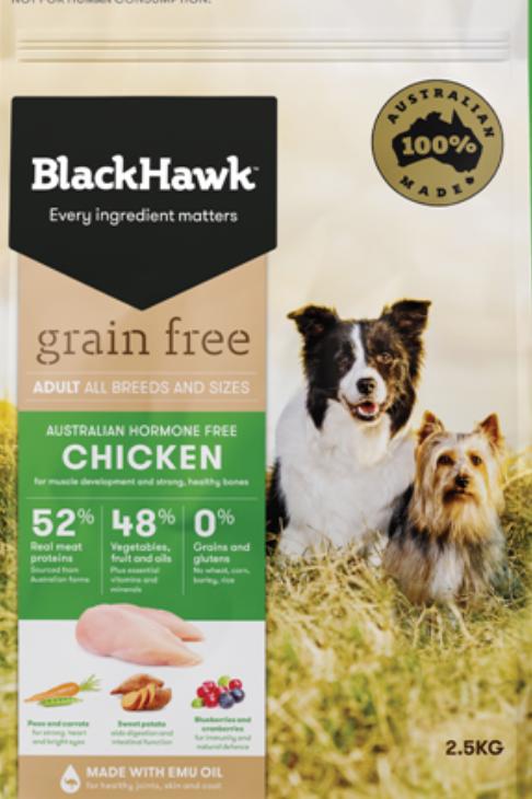 BlackHawk Grain Free Adult Chicken 2.5kg