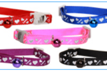 Beau Pets Reflective Leather Puppy Collar