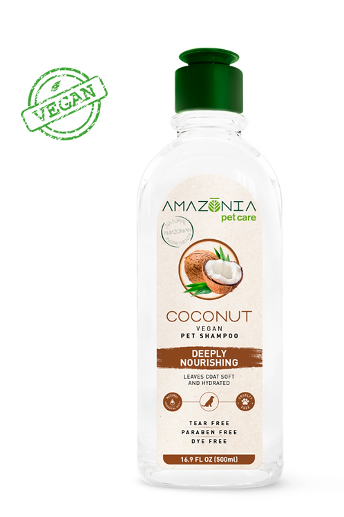 Amazonia Coconut Vegan Pet Shampoo Deeply Nourishing