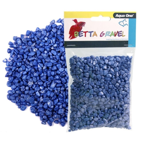 Aqua One Metallic Blue Betta Gravel