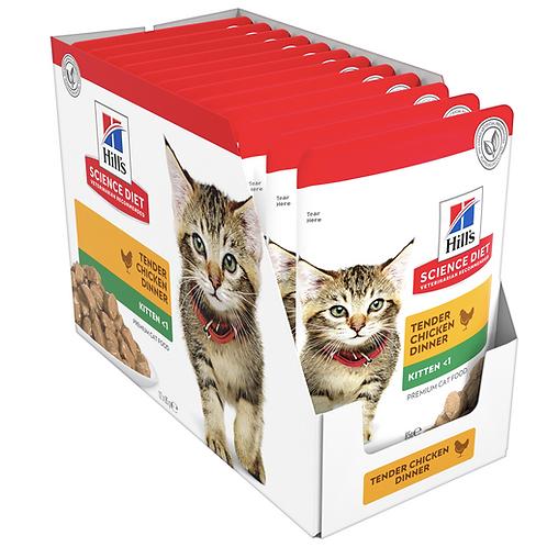 Hills Cat Food Pouch Kitten Tender Chicken Dinner - 85g