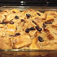 Chai Bread Pudding With Raisins