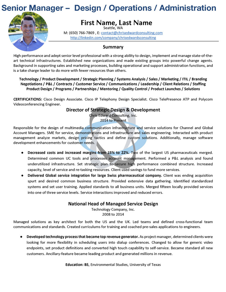 Sr. Manager Operations/Administrations