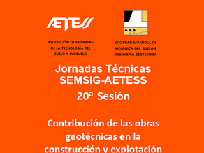 20ª Sesión de las Jornadas Técnicas SEMSIG-AETESS.