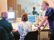Reviewing the results of cardiac catheterisation