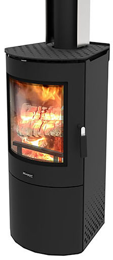 MASPORT AKAROA FREESTANDING WOOD BURNER WITH ASH PAN